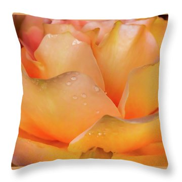 Heaven Scent Throw Pillow by Karen Wiles