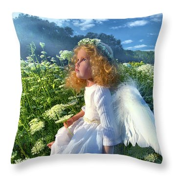 Heaven Sent Throw Pillow by Phil Koch