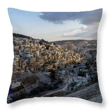 Heaven Shines On The City Of David Throw Pillow