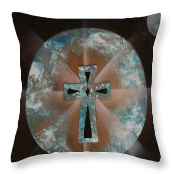 Throw Pillow featuring the painting Heaven by Tbone Oliver