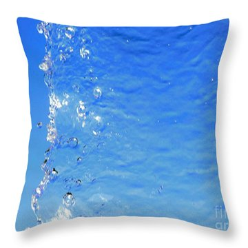 Throw Pillow featuring the photograph Waterfall by Ray Shrewsberry