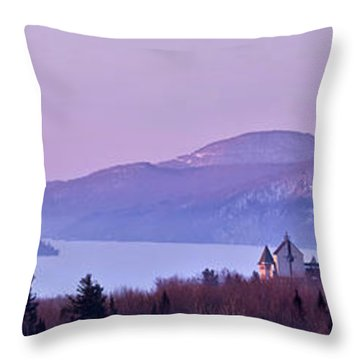 Throw Pillow featuring the photograph Heavenly Alpenglow by Sebastien Coursol