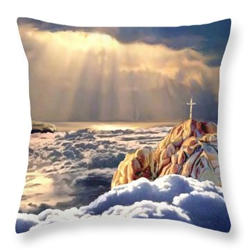 Heavenly Ascension Throw Pillow