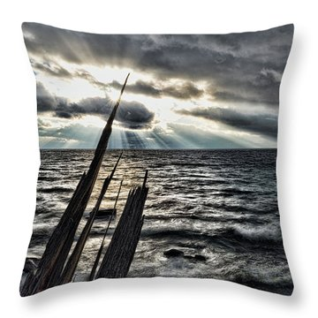Heavenly Beams Throw Pillow