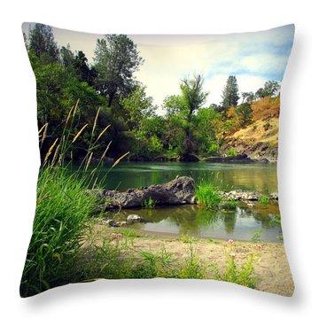 Heavenly Beauty Of The Sacramento River Throw Pillow