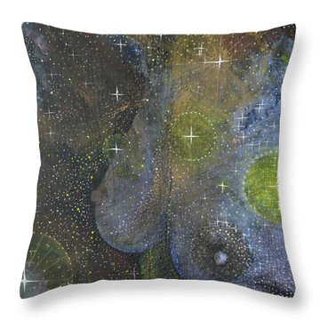 Throw Pillow featuring the painting Heavenly Body Aka The Milky Way by Kym Nicolas