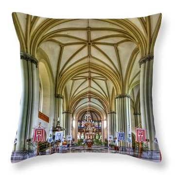 Heavenly Throw Pillow by Evelina Kremsdorf