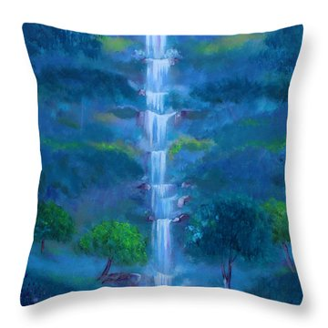 Heavenly Falls Throw Pillow