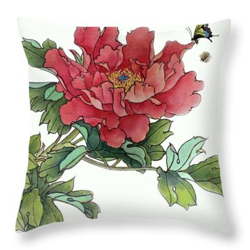 Heavenly Flower Throw Pillow