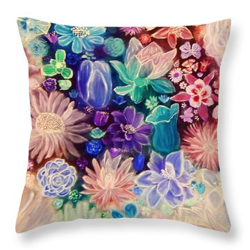 Heavenly Garden Throw Pillow by Samantha Thome