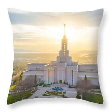 Throw Pillow featuring the photograph Heavenly Glow by Dustin  LeFevre