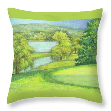 Heavenly Golf Day Landscape Throw Pillow