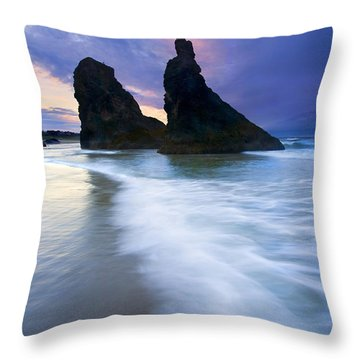 Heavenly Halo Throw Pillow by Mike  Dawson