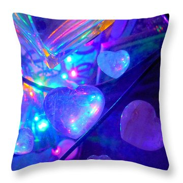 Heavenly Hearts Throw Pillow