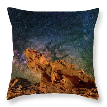 Heavenly Horses Throw Pillow