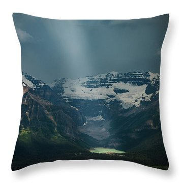 Throw Pillow featuring the photograph Heavenly Lake Louise by William Lee