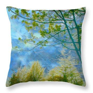 Heavenly Light II Throw Pillow