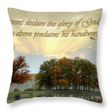 Throw Pillow featuring the photograph Heavenly Morning by Ann Bridges