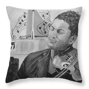 Heavenly Music Throw Pillow by Quwatha Valentine