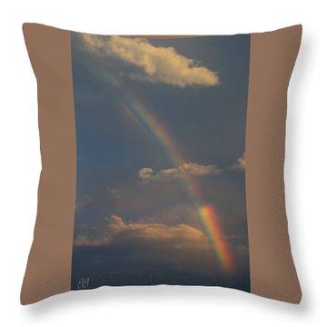 Heavenly Rainbow Throw Pillow