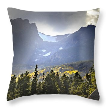 Throw Pillow featuring the photograph Heavenly Rockies  Rmnp by Nava Thompson