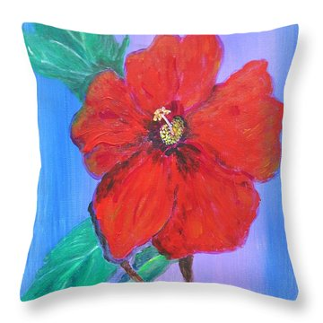 Heavenly Scent Throw Pillow by Maria Watt