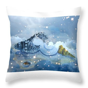 Heavenly Shells Throw Pillow by Leanne Seymour