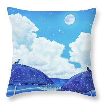 Heavenly Shower Throw Pillow