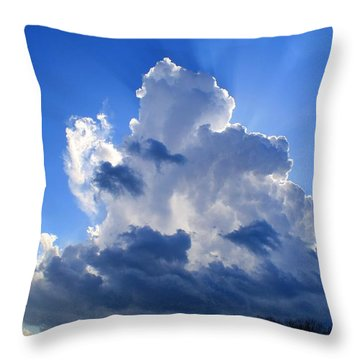 Throw Pillow featuring the photograph Heavenly Sunlight by Kathryn Meyer