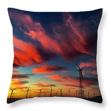 Heavenly Sunrise Throw Pillow