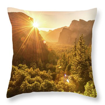 Heavenly Valley Throw Pillow