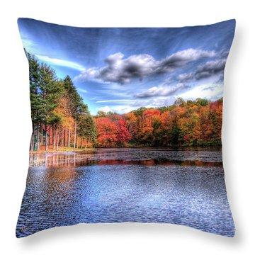 Heaven's Blue Throw Pillow