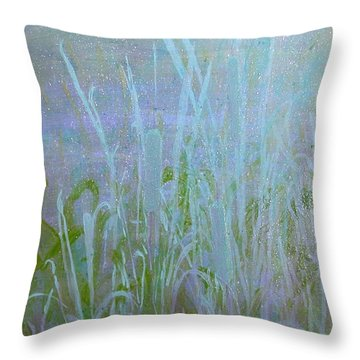 Heaven's Cattails #1 Throw Pillow