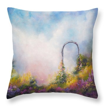 Heaven's Gate Throw Pillow by Marina Petro