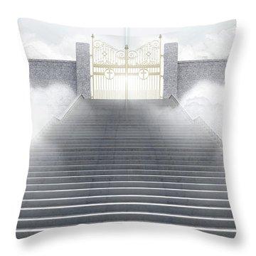 Heavens Gates Throw Pillow