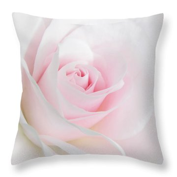 Heaven's Light Pink Rose Flower Throw Pillow