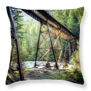 Throw Pillow featuring the photograph Heavens Tracks by Spencer McDonald