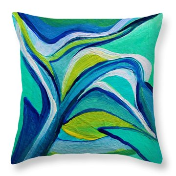 Heavy Bud Throw Pillow