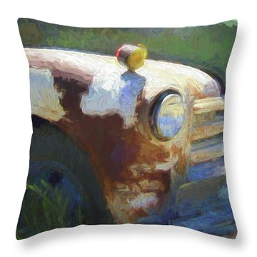 Heavy Chevy Dop Throw Pillow
