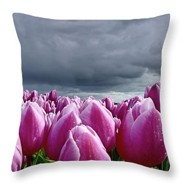 Heavy Clouds Throw Pillow by Mihaela Pater