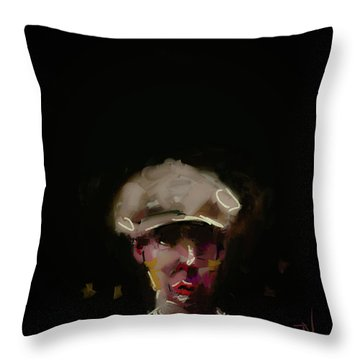 Throw Pillow featuring the digital art Heavy Hatted by Jim Vance
