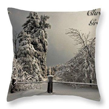 Heavy Laden Christmas Card Throw Pillow by Lois Bryan