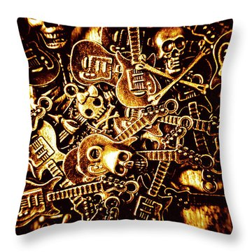 Heavy Metal Mix Throw Pillow