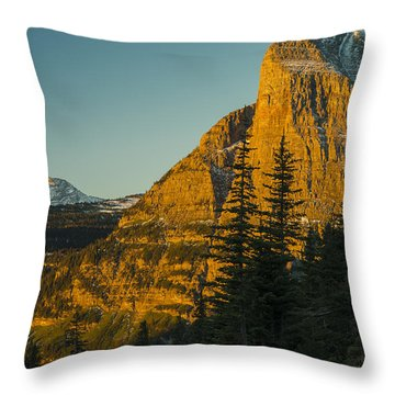 Heavy Runner Mountain Throw Pillow by Gary Lengyel