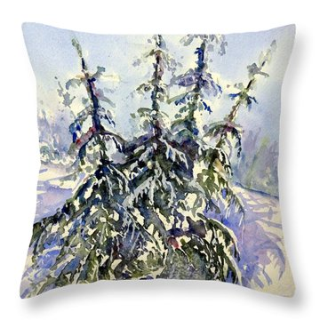 Heavy Snow In The Cascades Throw Pillow