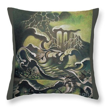 Heavy Water Throw Pillow