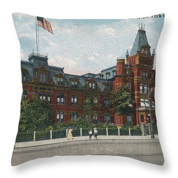 Throw Pillow featuring the photograph Hebrew Orphan Asylum by Cole Thompson
