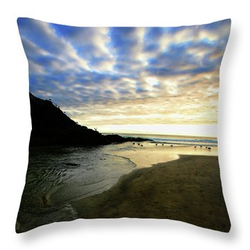 Heceta Head At Dusk Throw Pillow by Bonnie Bruno