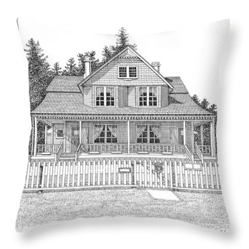 Heceta Head Bed And Breakfast Throw Pillow by Lawrence Tripoli
