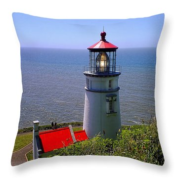 Throw Pillow featuring the photograph Heceta Head Lighthouse by Wendy McKennon